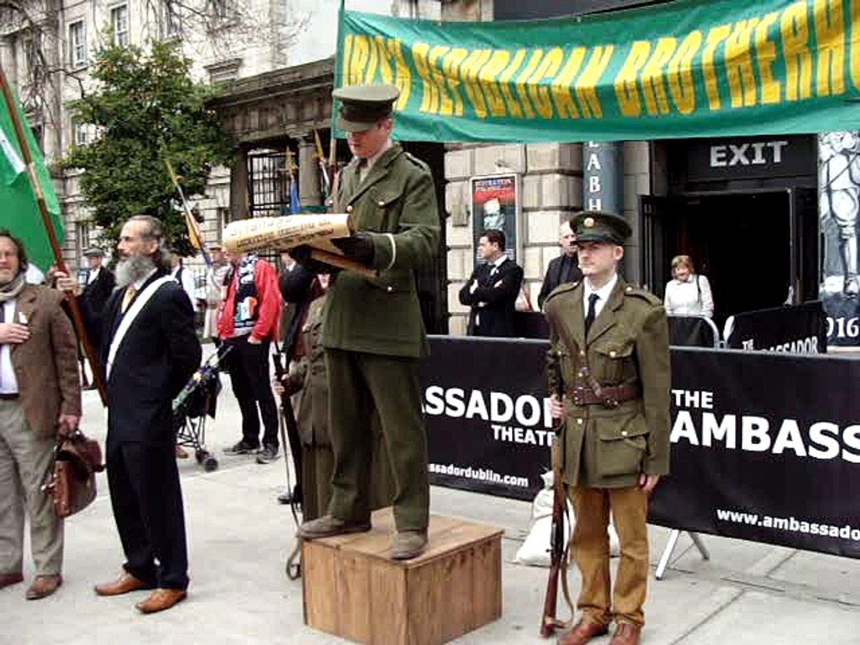 The 1916 Commemoration , at The Ambassabor Cinema, Dublin 24th April 2016.