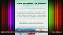 READ book  Kaizen Workshops for Lean Healthcare Lean Tools for Healthcare Series Full Free