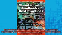 READ book  Manufacturing Handbook of Best Practices An Innovation Productivity and Quality Focus Full Free