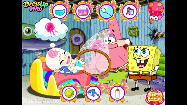 Spongebob Squarepants & Patrick Game Cartoon - Spongebob Baby Care