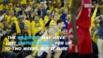 Stephen Curry-less Warriors send Rockets home 114-81