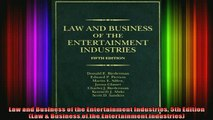 READ Ebooks FREE  Law and Business of the Entertainment Industries 5th Edition Law  Business of the Full Free