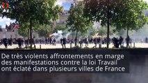 Manifs anti-loi Travail : des heurts dans plusieurs villes