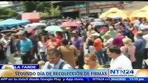 Por segundo día consecutivo los venezolanos llenan los centros de recolección de firmas a fin de iniciar el proceso para revocar a Maduro