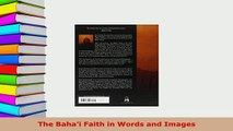 PDF  The Bahai Faith in Words and Images  EBook
