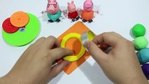 PLAY DOH RAINBOW COOKIE!! Clay playdoh biscuit and cookie with peppa pig español new