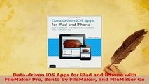 PDF  Datadriven iOS Apps for iPad and iPhone with FileMaker Pro Bento by FileMaker and Download Full Ebook