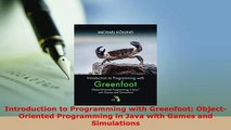 PDF  Introduction to Programming with Greenfoot ObjectOriented Programming in Java with Games  EBook