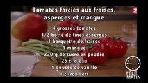 Gourmand - Tomates farcies aux fraises Label rouge, asperges et mangue - 2016/04/29