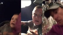 Scary video shows dad saving kid slipping from roller coaster after seatbelt malfunctions
