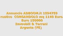 rustico  CONSANDOLO mq 1140 Euro...