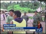 Varias familias fueron afectadas por el desbordamiento del río Yaupi