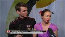 Elisabeth PARADIS / Francois-Xavier OUELLETTE - SD post-interview - ISU World Championships 2016