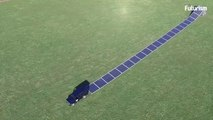 Roll-Array Solar Panels installed like a carpet with in minutes will used in disaster areas