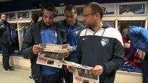 Avant HAC - Nîmes, les images de l'arrivée des joueurs au Stade Océane
