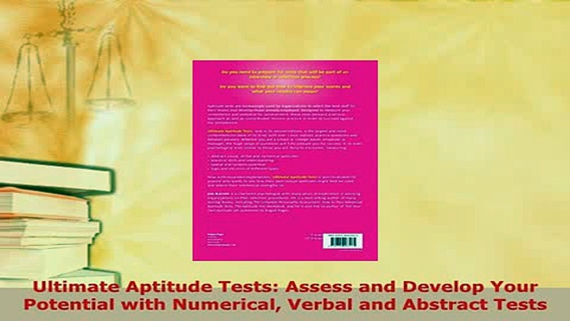 Verbal and Abstract Tests Assess and Develop Your Potential with Numerical Ultimate Aptitude Tests