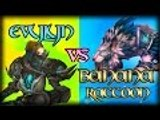 Evylyn vs Banana Raccoon Legion Alpha Arms Warrior vs Feral Druid duels wow legion pvp duels