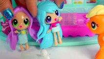 Sleep Over with Kawaii Crush BFFs Dolls and My Little Pony Applejack POP MLP Toy Play Vide