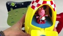 Peppa Pig Space Explorer Set avec Moon Buggy et 3 figurines vaisseau spatial Playset Fun