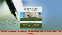 PDF  Brodys Regent Review Global History in less than 100 pages Download Online