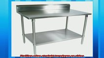 One of the best  John Boos ST6R53060GSK Stainless Steel Stallion Work Table with Lower Shelf Adjustable