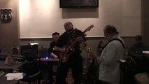 Modified   Squier Jaguar Guitar - BLUES in the Night - SOLO IN B FLAT -   5 - 27 - 2011