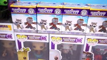 Funko Pop! Guardians of the Galaxy - Groot, Dancing Groot, Gamora, Drax, Star-Lord - Myste