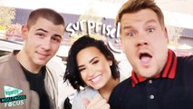 Demi Lovato and Nick Jonas Carpool Karaoke With James Corden