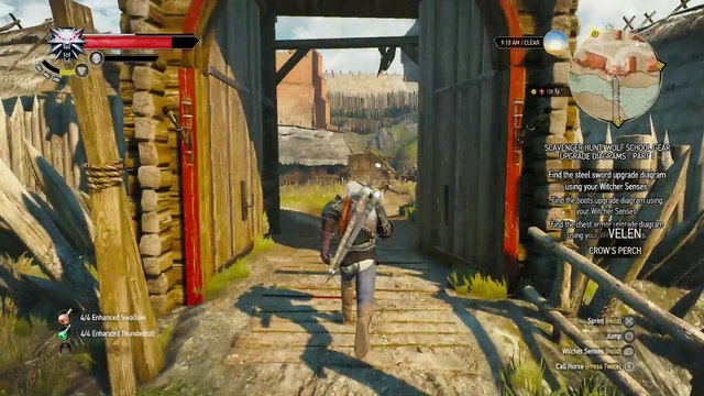 WITCHER 3 DEATH MARCH! WALKTHROUGH 191 - THE PLAY'S THE THING & SCAVENGER HUNT WOLF'S SCHOOL GEAR UPGRADE PART 1