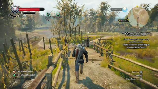WITCHER 3 DEATH MARCH! WALKTHROUGH 192 - THE PLAY'S THE THING & SCAVENGER HUNT WOLF'S SCHOOL GEAR UPGRADE PART 1