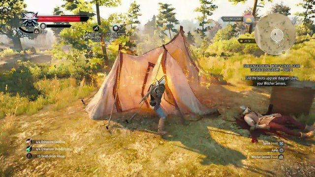 WITCHER 3 DEATH MARCH! WALKTHROUGH 193 - THE PLAY'S THE THING & SCAVENGER HUNT WOLF'S SCHOOL GEAR UPGRADE PART 1