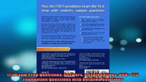 READ THE NEW BOOK   ITIL Exam Prep Questions Answers  Explanations 800 ITIL Foundation Questions with  FREE BOOOK ONLINE
