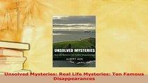 PDF Cold Cases Famous Unsolved Mysteries Crimes and Disappearances