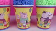 Peppa pig Clay Surprise Eggs Surprise Foam Cups Ice Cream Cups Disney Minnie Mouse Toys Dinosaur