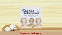 PDF  Consumer Behaviour PDF Full Ebook