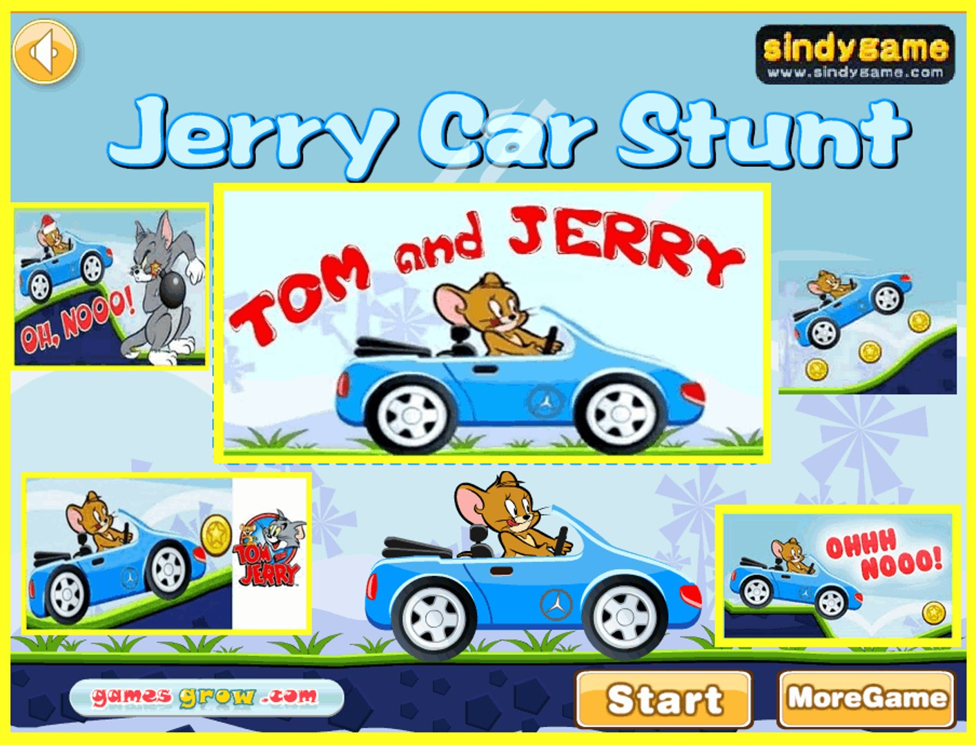 Jerry Car Stunt Top Funny Jerry Games For Kids 2016