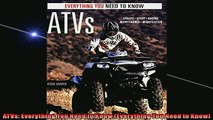 READ book  ATVs Everything You Need to Know Everything You Need to Know  FREE BOOOK ONLINE