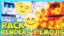 PACK RENDERS DE MINECRAFT Y EMOJIS| PACK DE RENDERS | PACK DE EMOJIS | DEJA TU LAIC. 2016 MINECRAFT