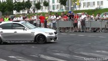 Chrome BMW M5 V10 w/ STRAIGHT PIPES Huge BURNOUTS and DRIFTS HD