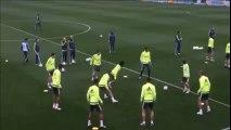 ¡Menudo balonazo de James Rodríguez a Varane en toda la cara!