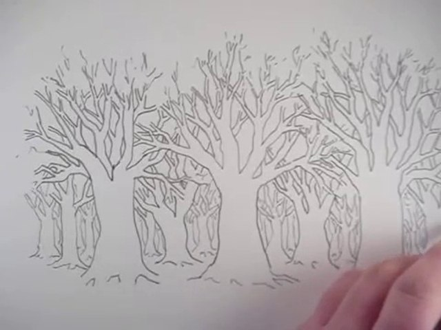 Comment Dessiner Un Arbre Et Une Foret Video Dailymotion