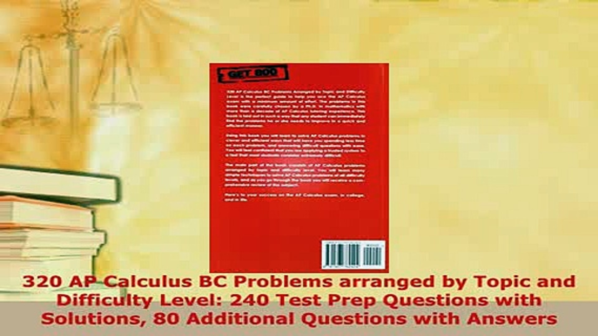 PDF 320 AP Calculus BC Problems arranged by Topic and Difficulty Level 240  Test Prep Download Full Ebook