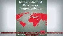 Downlaod Full PDF Free  International Business Negotiations International Business and Management Full EBook