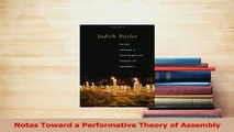 Read  Notes Toward a Performative Theory of Assembly Ebook Free