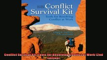 FREE DOWNLOAD  Conflict Survival Kit Tools for Resolving Conflict at Work 2nd Edition  DOWNLOAD ONLINE