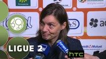 Conférence de presse Stade Lavallois - Clermont Foot (1-1) : Denis ZANKO (LAVAL) - Corinne DIACRE (CF63) - 2015/2016