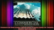 Downlaod Full PDF Free  Commercial Real Estate Transactions A Pocket Guide for Tenants Owners and Investors Free Online