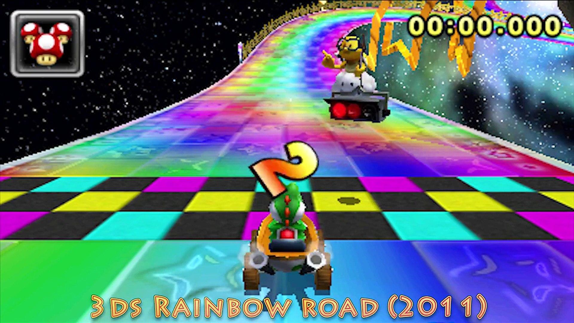 Mario Kart Rainbow Road 1992 To 2015 Generations 4k Video