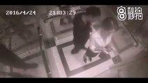 Femme VS pervers dans un ascenseur !  KO...