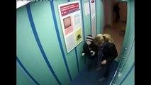 Dog Leash Gets Caught In Elevator Door